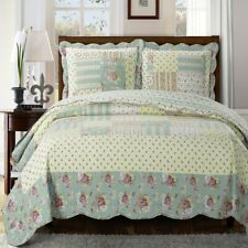 Annabel Luxury Quilted Coverlets 3 Piece Floral Sweet Home Quilt Set