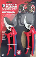 SPEAR AND JACKSON ANVIL SECATEURS BYPASS GARDEN SECATEURS SET