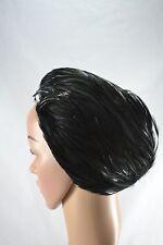 VINTAGE 1960s black feather hat