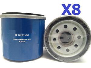 8X Oil Filters fits Subaru Sherpa 0.67L Petrol 1982-1989