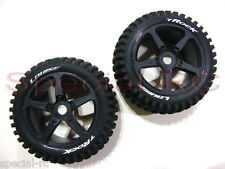 Louise RC 1/8 Truggy Rock w/ 0 offset Black wheels (2pcs) L-T3251SB