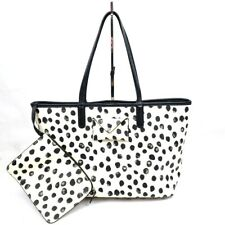 Marc by Marc Jacobs Metropolitote White Black Polka Dot Printed Large Tote 48