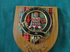 Vintage Scottish Clan Plaque - Ogilvy Crest Shield