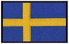 2 pcs SWEDISH Flag Embroidered Iron on Patches - SWEDEN