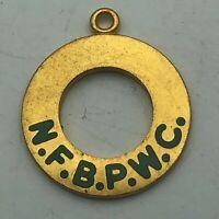 Vintage NFBPWC Charm Natl Fed Business Professional Women's Club Pendant    F7