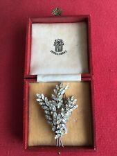 Vintage 1960's Large Jewel Crest Donald Simpson Crystal Rhinestone Spray Brooch