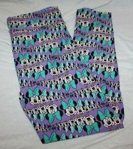 Lularoe Disney Minnie Mouse Leggings Buttery Soft Lavender Purple Tall & Curvy