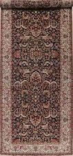 BLACK IVORY Magul Agra All-Over Floral Palace Wide Runner Rug Hand-Knotted 6x17