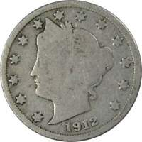 1912 D Liberty Head V Nickel 5 Cent Piece G Good 5c US Coin Collectible