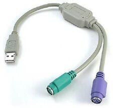 Conversor Adaptador Convertidor USB a doble PS2 PS/2 para Teclado y Raton