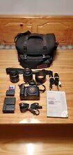 Sony Alpha DSLR-A100 10.2MP Digital SLR Camera Bundle w/ Two Lenses 35-70 55-200