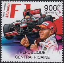 LEWIS HAMILTON & McLAREN F1 Formula One Grand Prix (GP) Car Stamp (2012 CAF)
