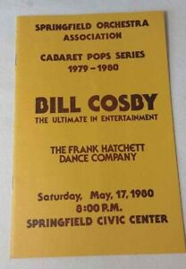 Vintage Bill Cosby Springfield Orchestra May 17, 1980 Program Cabaret Series