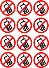 NO MOBILE / CELL PHONE MULTI PACK VINYL STICKERS - Ideal for indoor and outdoor