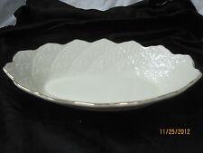 Vintage Lenox oval bowl Jacquard pattern