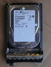 "LOT OF 6x FUJITSU 300GB SAS 3.5"" 15K HARD DISK DRIVES MBA3300RC IN DELL TRAY'S"