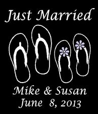 Just Married Flip Flop Boot Custom Car Decal Sticker Personalized