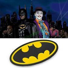 3D Metal Bat Auto Logo Car Tail Sticker Batman Black & Yellow Badge Emblem Decal