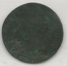 IRELAND,  1782,  HALF PENNY, COPPER,  KM#140