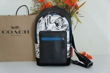 NWT Coach 2411 Marvel with Comic Book Print West Pack Chalk Multi $350