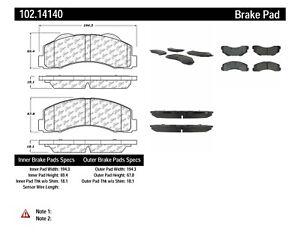 Disc Brake Pad Set-C-TEK Metallic Brake Pads Front Centric 102.14140