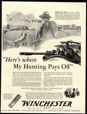 1942 WINCHESTER Rifles - WWII Soldier Shooting Turret Out Of Boat VINTAGE AD