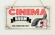 Cinema Room - Retro Home Theatre Sign Gift For Dad - Man Cave, Den, Family Rooms