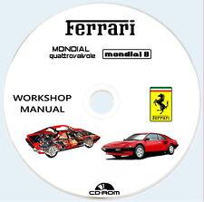 FERRARI Mondial 8 e  QV Catalogo Istruzioni Riparazioni e manutenzione+wiring