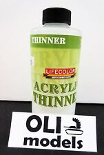 Acrylic Paint Thinner 250ml Bottle - Lifecolor 2130