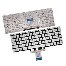 More details for replacement for hp pavilion14-ce0500sa uk layout backlit qwerty silver keyboard