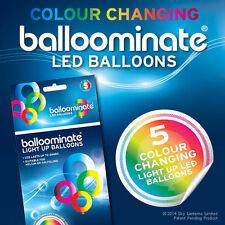 Balloominate Color Cambiante Led De Luz Con Globos - 5 Pack