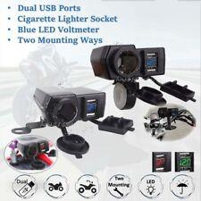 4.2A Dual USB Charger Cigarette Lighter Socket Waterproof 12-24V For Motorcycle