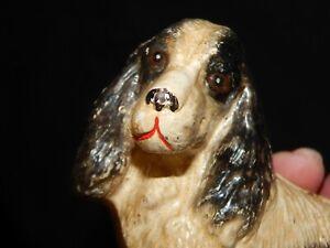 VINTAGE SPANIEL DOG CAST IRON BANK > 100% ORIGINAL...