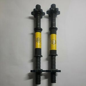 """Pair (2) of Gold's Gym Dumbbell Handles with Spinlock Collars 14"""""""