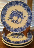 Royal Goedewaagen Blue Delft Handwork Hearts & Flowers Wall Plate