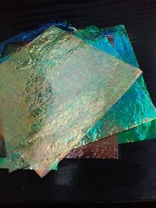 DICHROIC FILM IRIDESCENT COLOUR SHEETS POLYMER CLAY FIMO CRAFTS FAUX GEMS ART