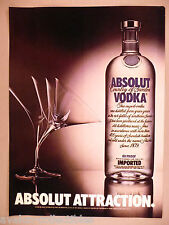 Absolut Vodka - Absolut Attraction PRINT AD - 1984