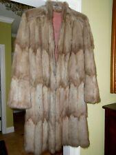 Vint Russian Sable Fur Coat Taupe Designer SEYMOUR GREAM  L  XL