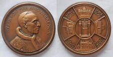 n.4 Vaticano Pio XII medaglia ricordo del Giubileo 1950 le 4 basiliche 60mm fdc