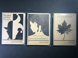 Obvious State Literary Pocket Notebook Set / Shakespeare, Woolf, Keats