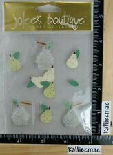 Jolee's JEWELED PEARS Boutique Sticker FRUIT