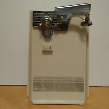Vintage Rival Electric Can Opener Automatic Model 785-106 Almond Tested Works