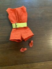 Vintage Genuine Barbie Scoop Neck Play suit With Belt  & Heels