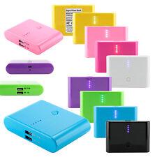 12000mAh Doppia USB Portatile Batteria Esterna Caricabatterie Powerbank per