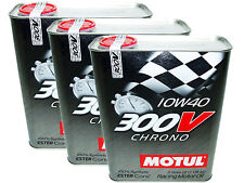 (6L=6.34 QT) MOTUL 300V 10W40 CHRONO RACING 100% SYNTHETIC ENGINE OIL