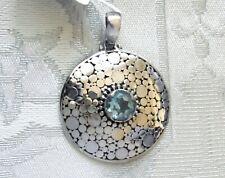 Sky Blue Topaz Pendant / 925 Sterling Silver / 1.1 cts, 6.1 grams