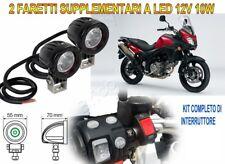 FARETTI KIT FARI SUPPLEMENTARI MOTO LED 12V 10W 6000K PER SUZUKI V-STROM 650 ABS