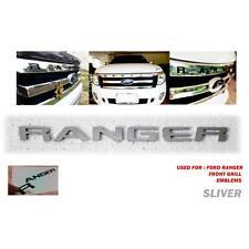 Fit Ford Ranger Emblem Front GrilLeftood Fender Ford T6 Logo Text 3M Tape Sliver