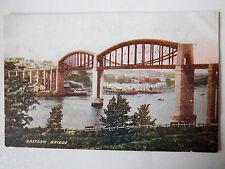 Saltash Bridge Old Postcard J Welch & Sons Portsmouth