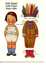 Dolly Dingle's Friend-Indian Costume-Paper Doll-Grace Drayton Artwork Postcard